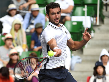 Marin Cilic in action against Juan Monaco in Japan Open quarterfinal. Getty