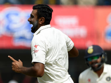 Ravichandran Ashwin triggered the collapse for the Black Caps after lunch. AFP