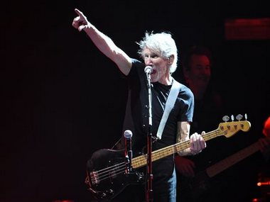 Roger Waters performs on day 3 of the 2016 Desert Trip music festival at Empire Polo Field on 9 Oct. AP