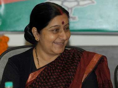 Union External Affairs Minister Sushma Swaraj. File photo. AFP