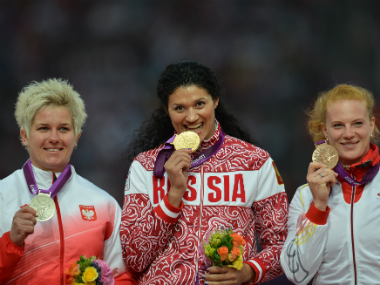 Tatyana Lysenko's gold medal has been