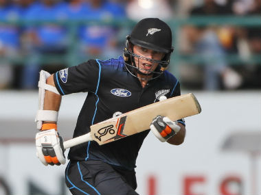 New Zealand's Tom Latham carried his bat agaisnt India in the first ODI at Dharamsala. AP