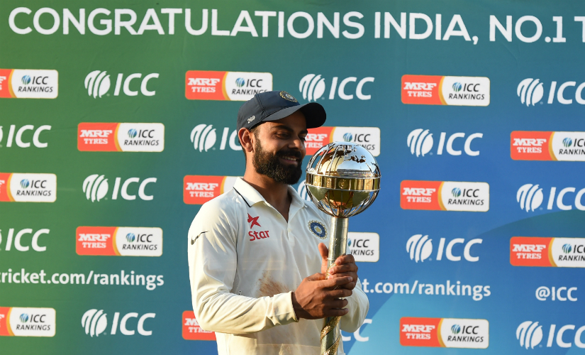 Virat Kohli's captaincy guided India to victory. AFP