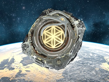 An artist's imagination of the proposed space nationa, Asgardia. Image courtesy Asgardia.space