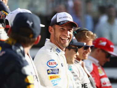 Jenson Button couldn't finish his final F1 race at Abu Dhabi. Getty