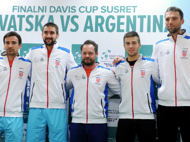 The Croatia Davis Cup team. AFP