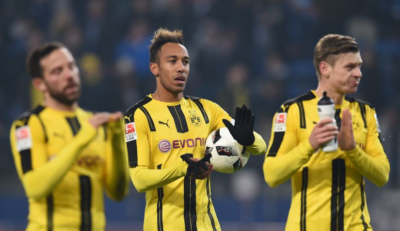 Dortmund's forward Pierre-Emerick Aubameyang will be one of the key players to watch out for in their clash against Bayern Munich. AFP