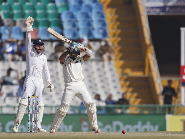 England's Jonny Bairstow (L) appeals for a wicket. AP