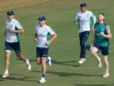 File image of the England players during their net session. AFP