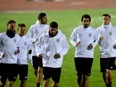 Germany players in training. AFP