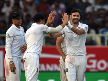 James Anderson feels the Vizag pitch will not hold as well as Rajkot. AFP