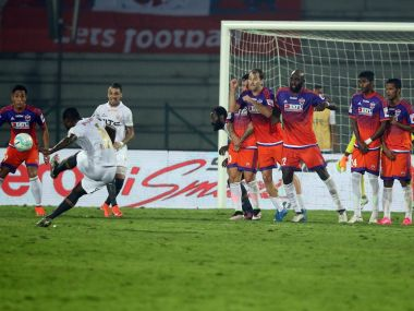 Romaric scored the only goal of the game to give NorthEast United three points. ISL