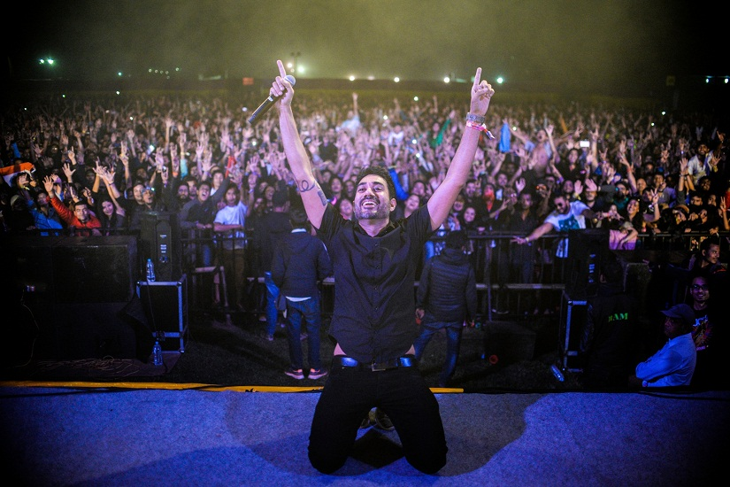 Nucleya performing at Bacardi NH7 Weekender, Shillong 2016. Photo courtesy: Madhurjya Saikia