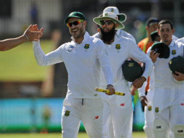 Faf du Plessis and co earned an impressive victory against Australia at Perth. AFP