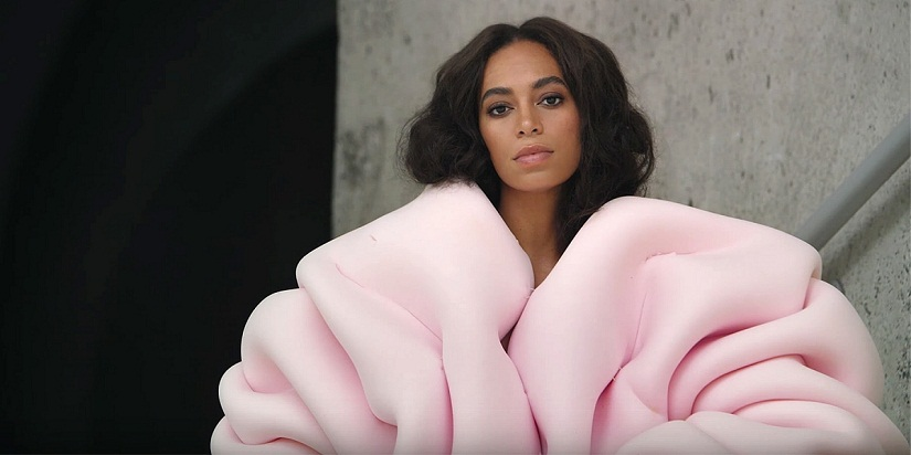 Solange in a still from 'Cranes In The Sky'