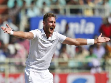 Stuart Broad was the pick of the bowlers. AP