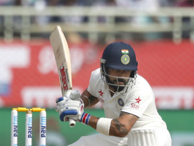Virat Kohli was batting on 35 at the end of the first session. AP