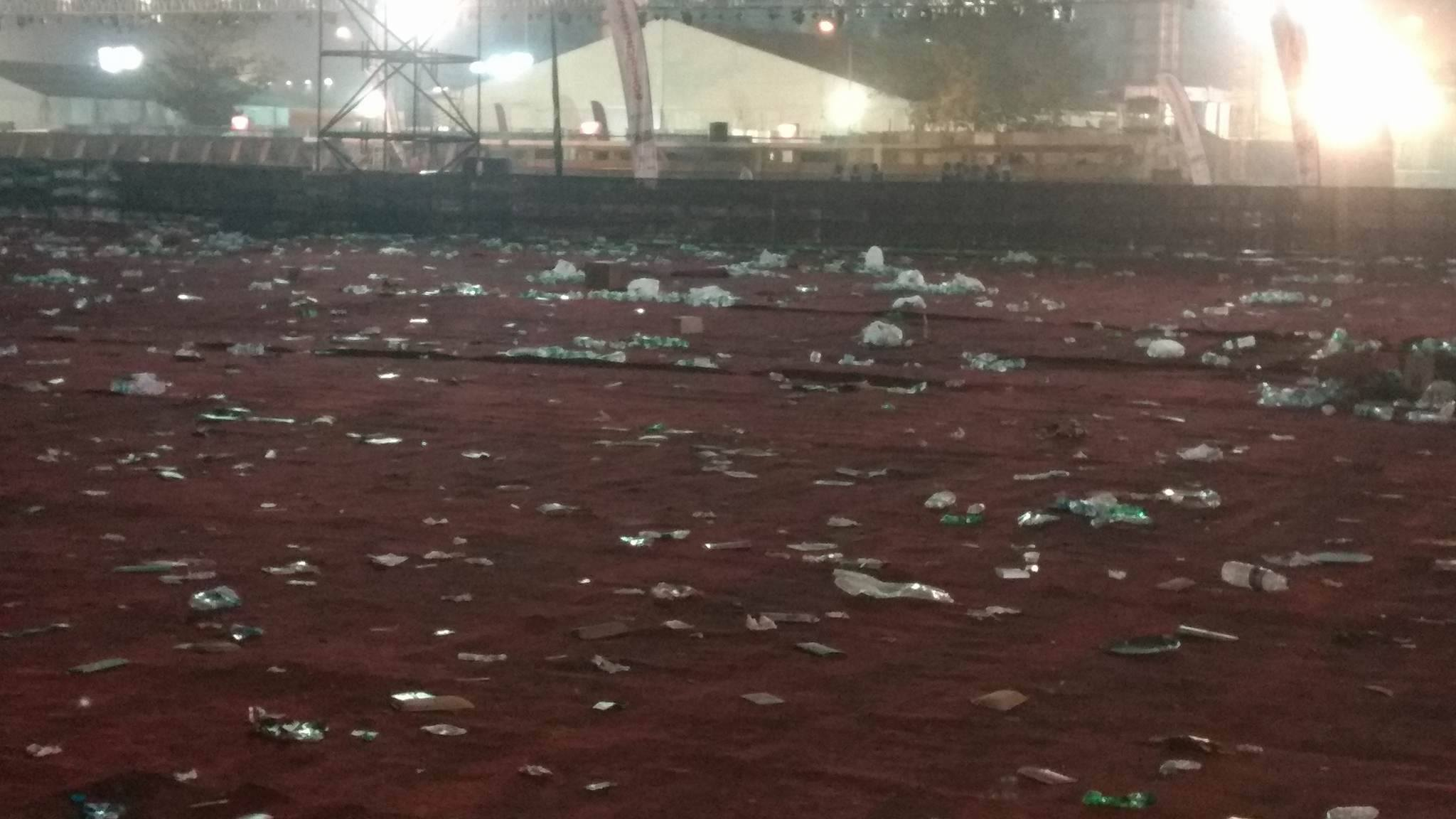 The MMRDA grounds after the concert. Image courtesy: Ornellius Saldanha
