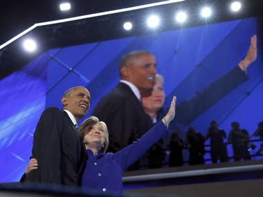 A file photo of Barack Obama and Hillary Clinton. AP