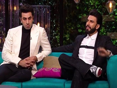 Ranbir Kapoor, ranveer Singh on Koffee With Karan season 5. Screengrab/News 18