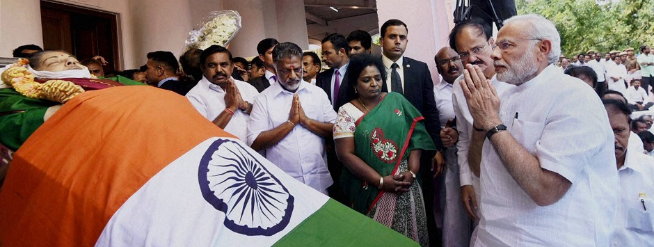 LIVE: Jayalalithaa dead, mortal remains to be moved from Rajaji Hall; funeral at 4.30