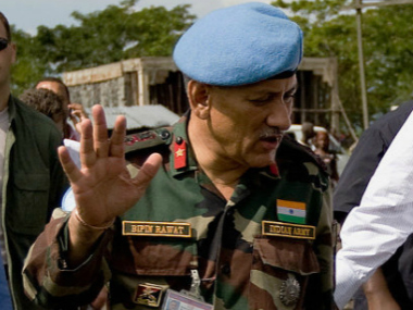 Lt Gen Bipin Rawat. File photo. Getty Images