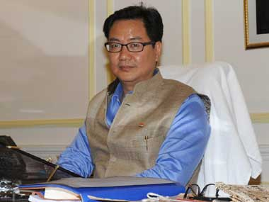 File photo of Kiren Rijiju. PIB