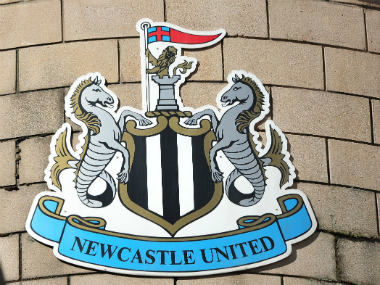 File photo of the Newcastle United crest. Getty images