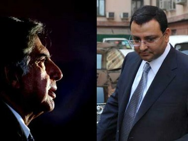 Ratan Tata (left) and Cyrus Mistry. AFP