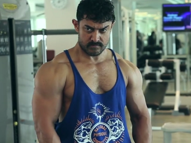 Aamir Khan during the shooting of Dangal.