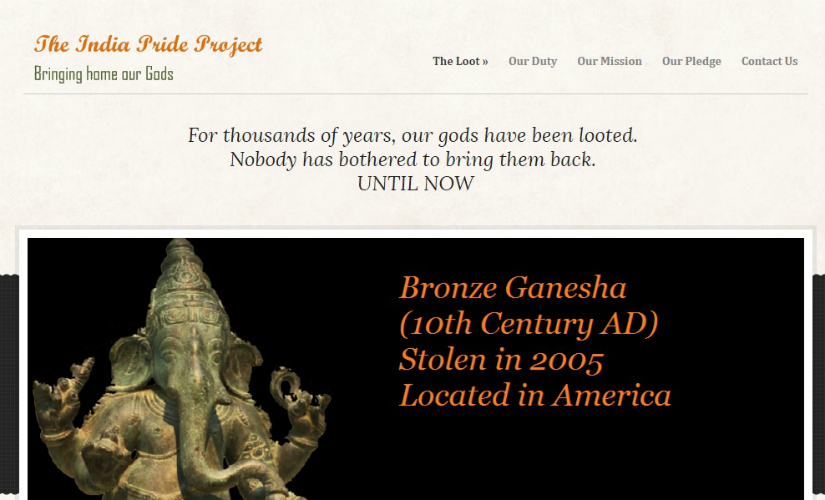 A screenshot of the India Pride Project website.