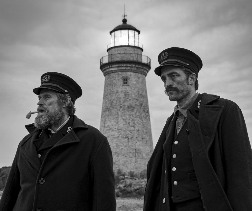 Willem Dafoe and Robert Pattinson in The Lighthouse. A24