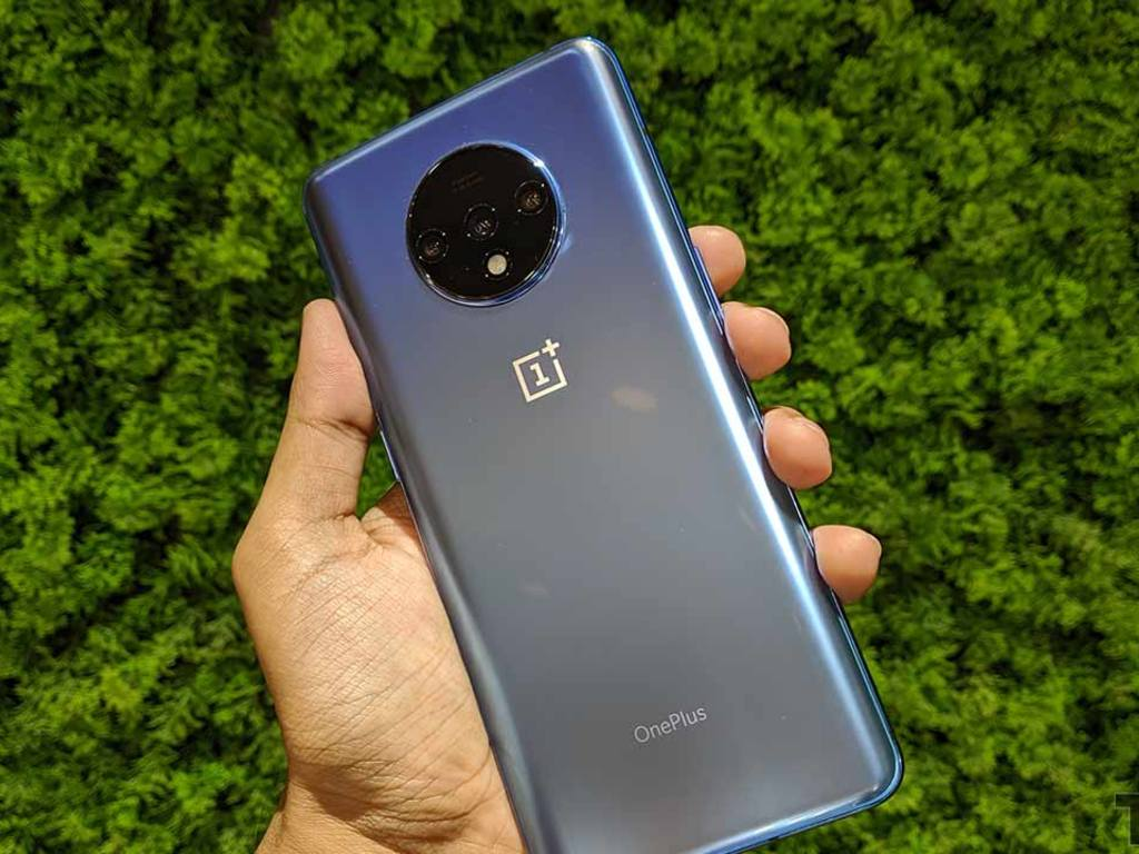 The OnePlus 7T is powered by the Qualcomm Snapdragon 855 Plus. Image: tech2/Abhijit Dey.