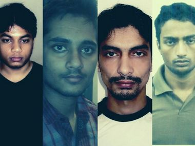 File image of four convicts in Jaipur blasts case. News18