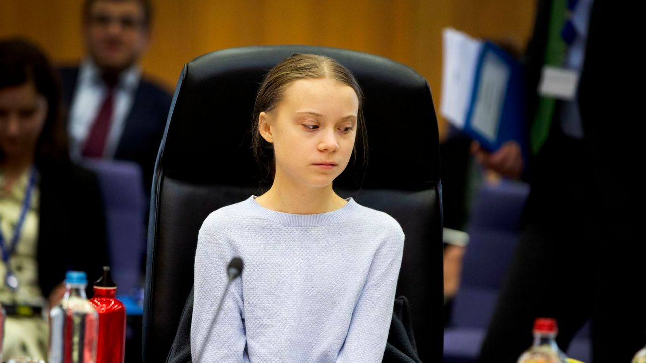 Climate activist Greta Thunberg, who attended Wednesday's climate discussions with EU commissioners, dismissed the proposed law. Image credit: AP