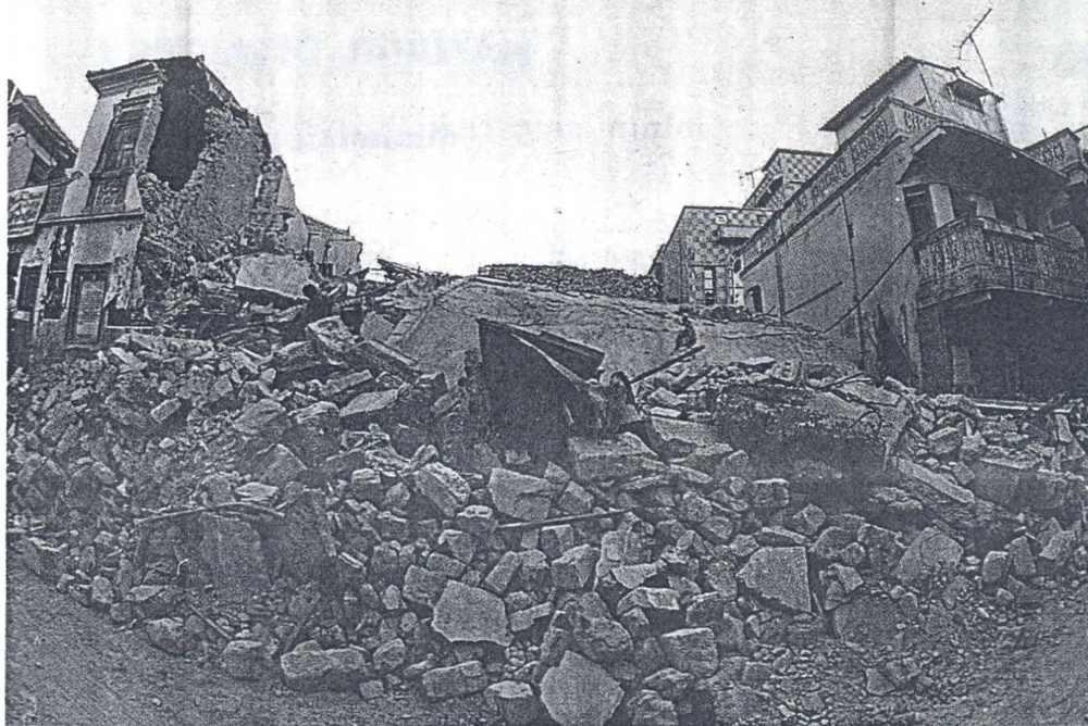 Destruction of non-quake resistant buildings