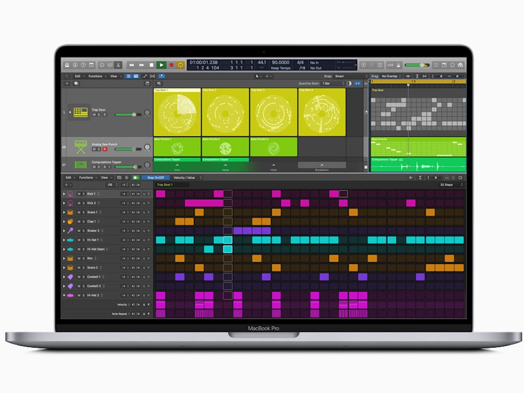 Logic Pro's new editor called Step Sequencer. Image: Apple