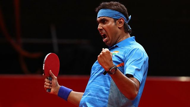 Sharath Kamal had a fantastic time at the CWG 2018 where he led the Indian team to gold in team championships. @ITTF/Twitter