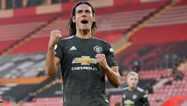 Manchester United striker Edinson Cavani apologised for using a Spanish term for Black people. AP