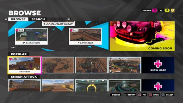Along with the ability to create custom tracks of your own, you can also try out some meticulously crafted tracks made by people with way too much time on their hands. Screen grab from DIRT 5