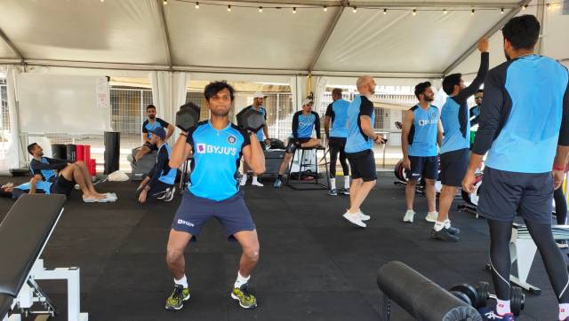 Indian cricket team in a gym session in Sydney. Image: Twitter/BCCI