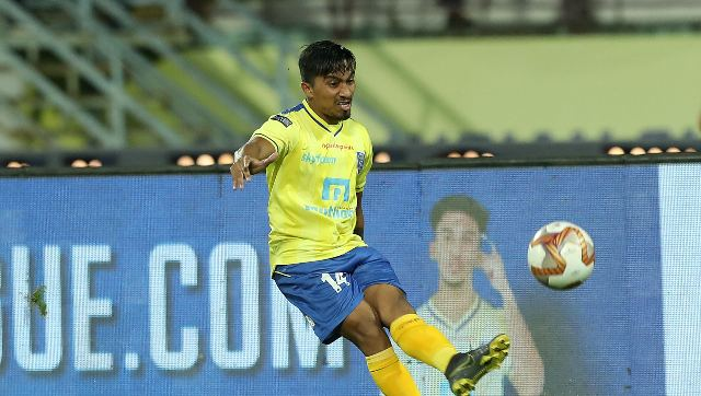 Jessel Carneiro in action during the 2019-20 ISL season. Sportzpicsv for ISL