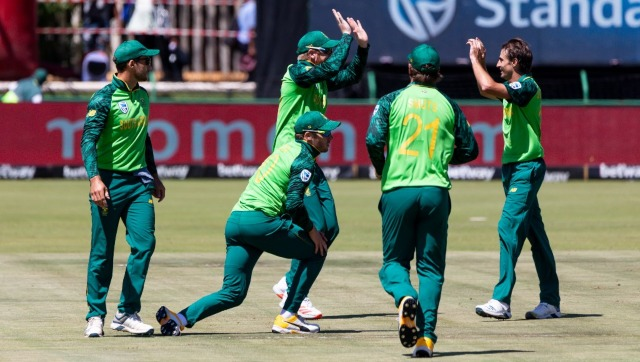 File image of South Africa cricket team. AFP