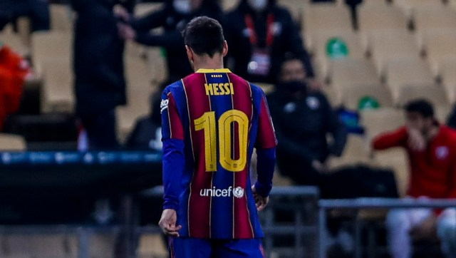 Lionel Messi's imminent departure is likely to dent LaLiga further. AP/File