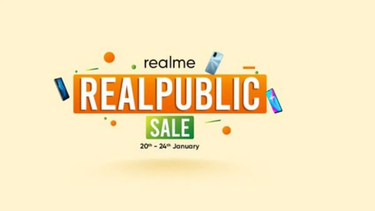The Realme Realpublic Sale will be held 20-24th January. Image: Realme