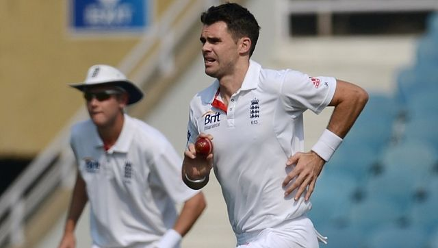 James Anderson in action in the 2012-13 India tour. AFP