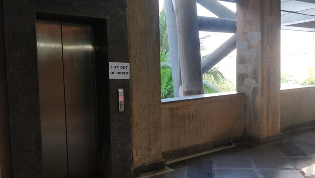 Elevator at the North stand, out of service during an IPL game in 2019. Image courtesy: Noth Stand Gang