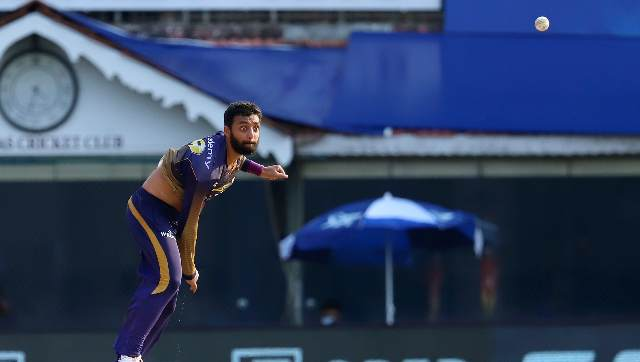 Varun Chakravarthy was one of the two KKR players who tested COVID-19 positive. Sportzpics