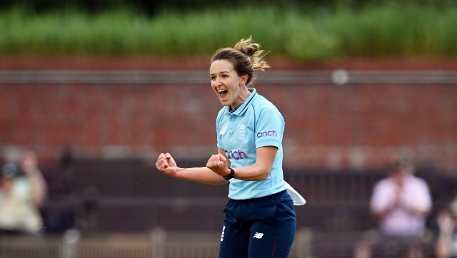 Kate Cross finished with a brilliant spell of 5/34 and was adjudged the Player of the Match. Twitter/@ICC