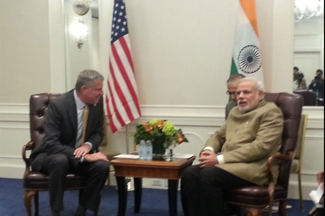 Terror, policing, public housing: Modi takes lessons from New York Mayor
